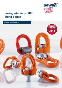 pewag winner profilift lifting points Lifting and lashing NEW 2014