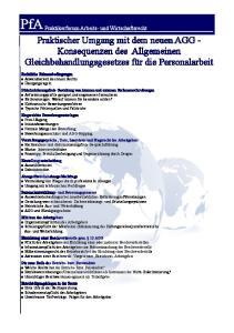 PfA Praktikerforum Arbeits- und Wirtschaftsrecht