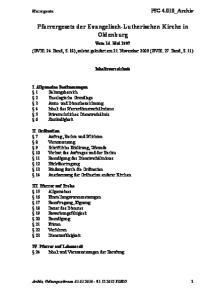 Pfarrergesetz der Evangelisch-Lutherischen Kirche in Oldenburg