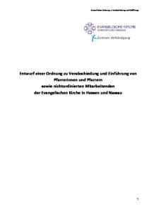 Pfarrerinnen und Pfarrern sowie nichtordinierten Mitarbeitenden der Evangelischen Kirche in Hessen und Nassau