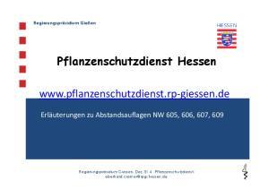 Pflanzenschutzdienst Hessen