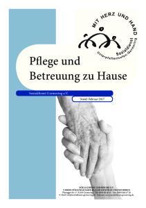 Pflege und Betreuung zu Hause