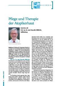 Pflege und Therapie der Atopikerhaut
