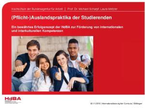 (Pflicht-)Auslandspraktika der Studierenden