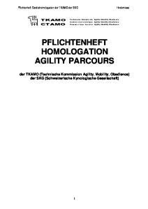 PFLICHTENHEFT HOMOLOGATION AGILITY PARCOURS