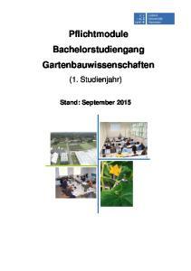 Pflichtmodule Bachelorstudiengang Gartenbauwissenschaften