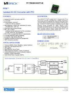 PFM Isolated AC-DC Converter with PFC