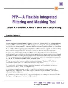 PFP A Flexible Integrated Filtering and Masking Tool