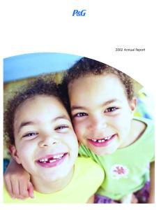 P&G 2002 Annual Report Annual Report