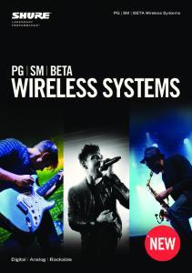 PG SM BETA Wireless Systems PG SM BETA WIRELESS SYSTEMS. Digital Analog Rackable