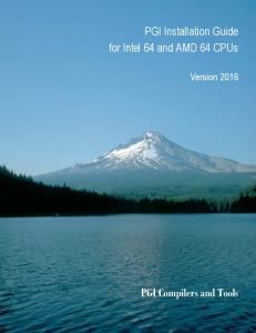PGI Installation Guide for Intel 64 and AMD 64 CPUs