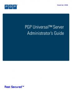 PGP Universal Server Administrator s Guide