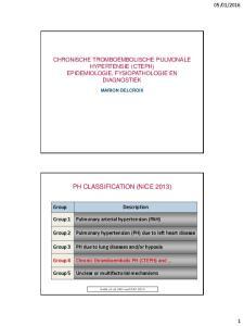 PH CLASSIFICATION (NICE 2013)