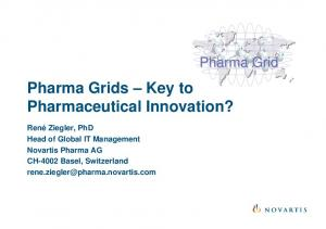 Pharma Grids Key to Pharmaceutical Innovation?