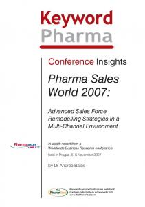 Pharma Sales World 2007: