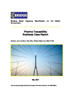 Pharma Traceability Business Case Report
