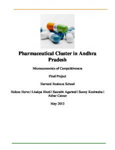 Pharmaceutical Cluster in Andhra Pradesh