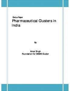Pharmaceutical Clusters in India