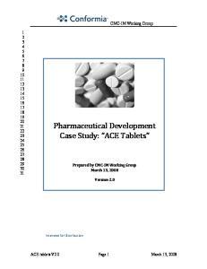 Pharmaceutical Development Case Study: ACE Tablets