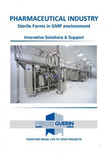 Pharmaceutical industry Sterile forms Innovative Solutions and Support