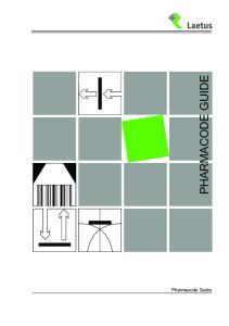 PHARMACODE GUIDE. Pharmacode Guide 1