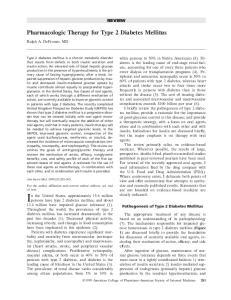 Pharmacologic Therapy for Type 2 Diabetes Mellitus