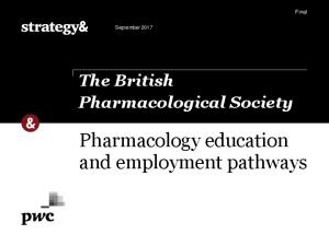 Pharmacology education and employment pathways