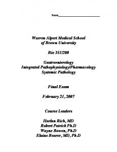 Pharmacology Systemic Pathology