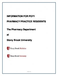 PHARMACY PRACTICE RESIDENTS