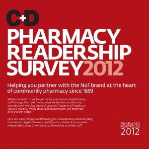 PHARMACY READERSHIP SURVEY2012