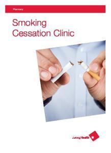 Pharmacy. Smoking Cessation Clinic