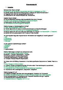 Pharmakologie-AK. 1. Analgetika