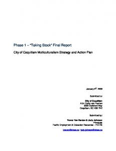 Phase 1 Taking Stock Final Report