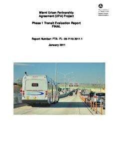 Phase 1 Transit Evaluation Report FINAL