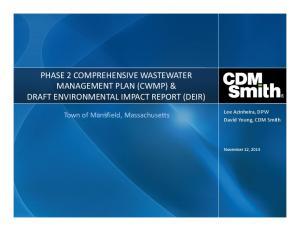 PHASE 2 COMPREHENSIVE WASTEWATER MANAGEMENT PLAN (CWMP) & DRAFT ENVIRONMENTAL IMPACT REPORT (DEIR)