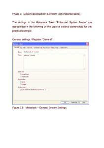 Phase 2: System development & system test (implementation)