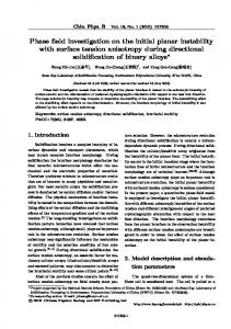 Phase field investigation on the initial planar instability with surface tension anisotropy during directional solidification of binary alloys