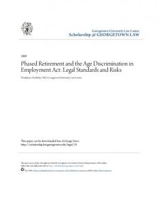 Phased Retirement and the Age Discrimination in Employment Act: Legal Standards and Risks