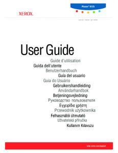 Phaser color laser printer. User Guide