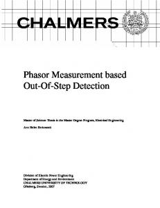 Phasor Measurement based Out-Of-Step Detection