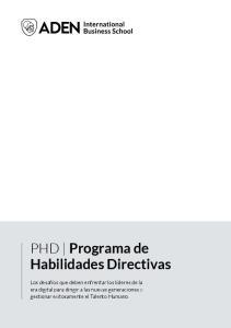 PHD Programa de Habilidades Directivas