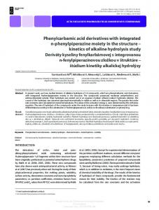 Phenylcarbamic acid derivatives Alkaline hydrolysis Chemical kinetics Antiarrhythmics Stability