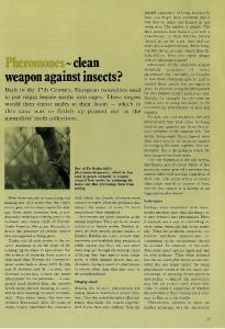 Pheromones~clean weapon against insects?