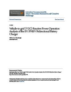 PHEV Bidirectional Battery Charger