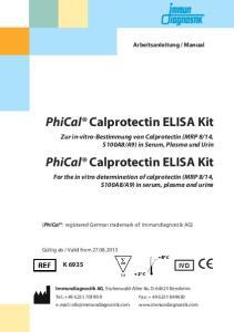 PhiCal Calprotectin ELISA Kit
