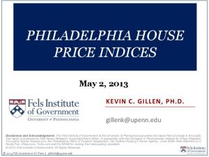 PHILADELPHIA HOUSE PRICE INDICES