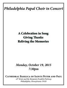 Philadelphia Papal Choir in Concert