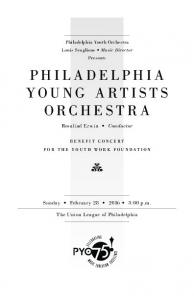 PHILADELPHIA YOUNG ARTISTS ORCHESTRA