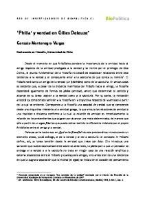 Philia y verdad en Gilles Deleuze