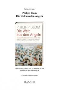 Philipp Blom Die Welt aus den Angeln